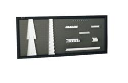Vertikāla aizsargsiena instrumentu novietošanai kopā ar 9 stiprinājumu komplektu